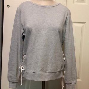 Gray tied sweater